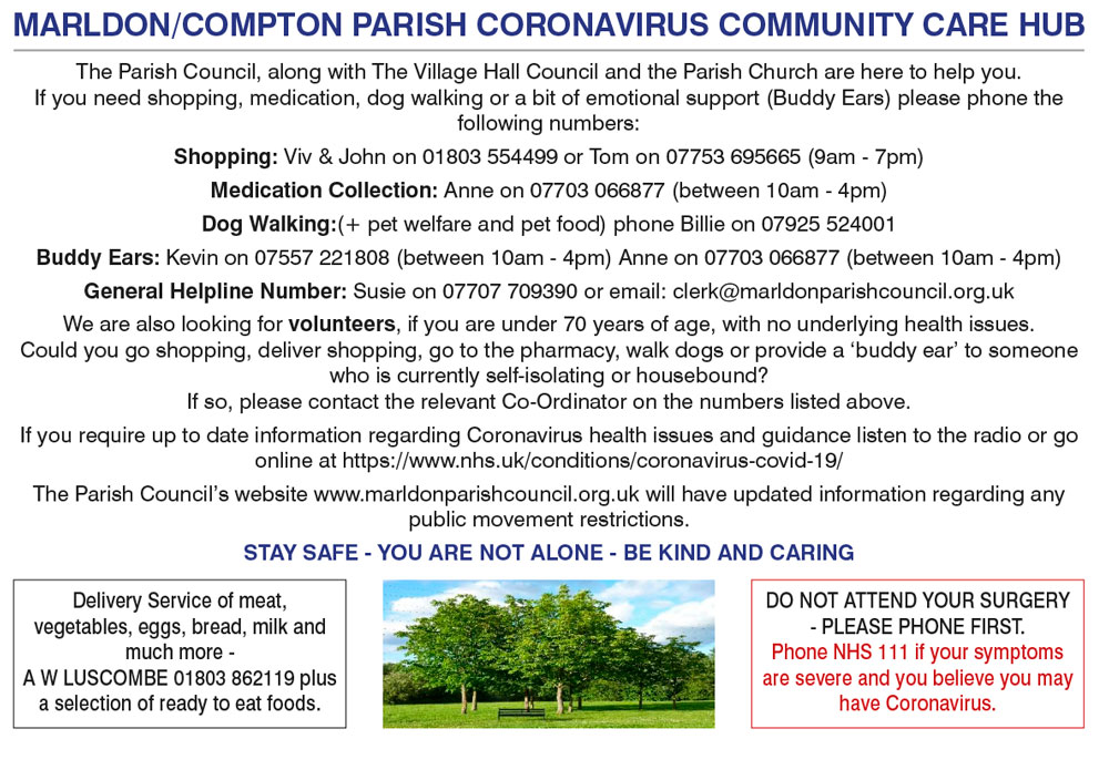 Coronavirus Community Care Hub Information Poster